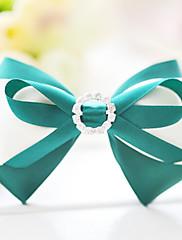 Deep Green Satin Bow 11cm Classic Lolita lamely s Button Flower