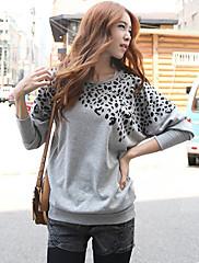 Dámské Leopard Long Sleeve T-Shirt