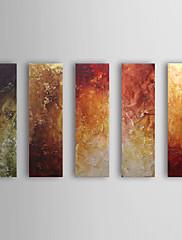 Ručně malované Abstraktní Horizontálně,Klasický Pět panelů Hang-malované olejomalba For Home dekorace