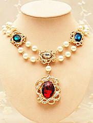 Barevné Luxusní dámské Crystal a slitin Velký náhrdelník