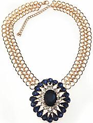 Dámské luxusní Retro Crystal Krátký náhrdelník (tvaru srdce nebo náhody tvar láhve)