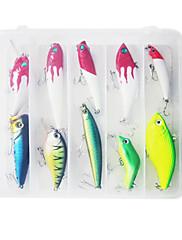 Hard Bait Minnow / Popper / VIB / Klika / Tužka Lure Fishing Set (10ks)