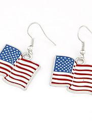 クールなデザイン合金米国旗の女性のイヤリング