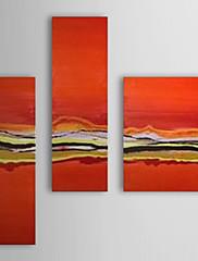 Ručně malované Olejomalba abstraktní s Reprodukce Rám Sada 3 1308-AB0547