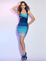 シース/コラムアン女王ミニ/ショート包帯ドレス