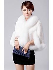 CHAOLIU女性の毛皮の襟ケープフェイクファーのコート