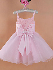 女の子のフラワーショルダーストラップ子供のイブニングドレス