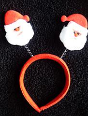 Santa Claus vzor netkané textilie vánoční čelenka