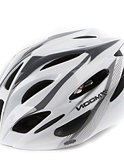 満月サイクリングPC + EPS 21ベントスーパーライトホワイト+グレー自転車/バイクヘルメット