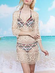 Sladké Hollow Out Beach Swim šaty