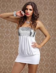 Shining Girl Šaren Svila Noćni klub seksi uniformu sa šljokica