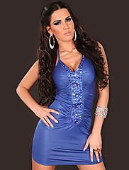 Hot Girl PU kůže Noční klub Sexy Party Uniform (pro velikost M)