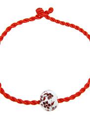 Vintage lano Red akryláty Dámský náramek