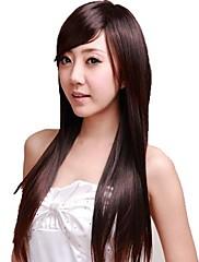 rovný paruky krásné dlouhé plný bang syntetické paruky tepelně odolných vláknových levné cosplay strany paruka vlasy