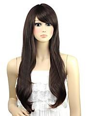 žena zvlněná krásné dlouhé straně třesk syntetické paruky tepelně odolných vláknových levné cosplay strany paruka vlasy