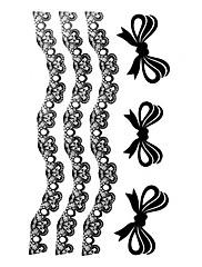 5 ks Bowknot Vodotěsné Dočasné tetování (10,5 cm * 20,5 cm) HM471