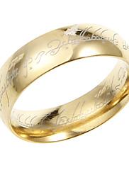 Amazing Titanium Gold Unisex Pásové kroužky