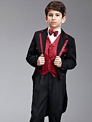 Czarny Směs polyesteru a bavlny Oblek pro mládence - 7 Pieces Obsahuje sako / Tričko / Vesta / Kalhoty / pas / Motýlek / Suspensory