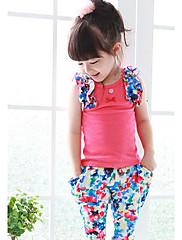 Dívka je Květinový Léto Sady oblečení Bavlna