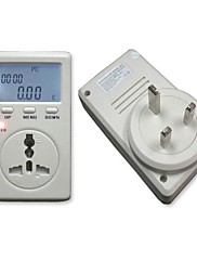 UK Plug Single Phase Power Watt Volt Amp Energy Meter Analyzátor se účiník