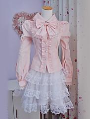 Halenka / košile Sweet Lolita Lolita Cosplay Lolita šaty Jednobarevné Mašle Dlouhé rukávy Lolita Halenka Pro Polyester
