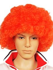キャップレスサッカーファンパーティーかつら - オレンジ