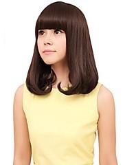 Módní Capless Ženy Střední kudrnaté vlasy syntetické Plný Bang Paruky 4 Barvy k dispozici