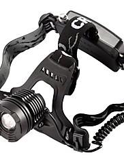 ヘッドランプ LED 800 ルーメン モード Cree T6 18650 防水 キャンプ/ハイキング/ケイビング アルミ合金