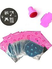 81PCS M Series Nail Art Stamp Lisování Obrázek Šablona Plate č.1-81 & Nail Art Stamper & Nail Art škrabka