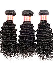 24 Inch Velké 5A brazilské Virgin Lidské vlasy Nature Black Barva Kinky kudrnaté vlasy rozšíření