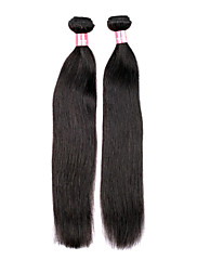 20 palců velký 5A Brazilský Panenské Lidské vlasy Black Přírodní barva Rovné Prodlužování vlasů