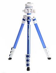 カメラビデオカメラデジタル一眼レフDV(ブルー)Fotopro S3のアルミニウム三脚+ 1月4日ボールヘッド