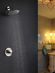 Současné Pouze sprcha Dešťová sprcha with  Keramický ventil Single Handle dva otvory for  Broušený nikl , Sprchová baterie