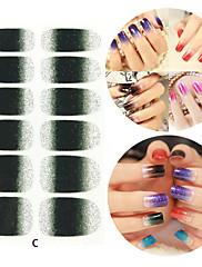 28PCS Glitter Gradient Ramp Nail Art Nálepky C Series