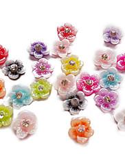 24PCS Mixs Boja Djeteline dizajn Glitter Powder Nail Art Dekoracije