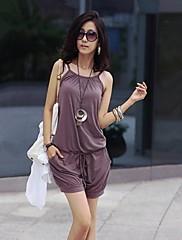 SHA Shi Meng NA Dámské řemínek Hotpant volný čas Fialové kalhoty