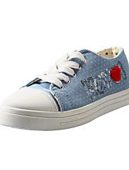 Canvas Dámská Byt Heel Sneakers Fashion Lace-up Polka Dot (více barev)