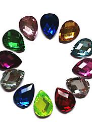 24PCS Mixs Color Glitter Water Drop dizajn Rhinestone Nail Art Dekoracije