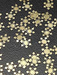 50pcs Snijeg Dizajn Gold Metal Nail Art Dekoracije