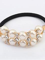 Módní jednoduchý perla vlasy kravaty