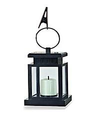 1-LED Bílý Solární lucerna s falešný svíčky deštník světla zahradní lampy