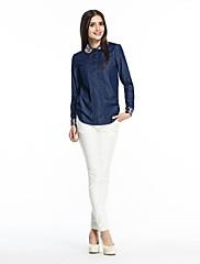 OSAの女性の長袖シャツを底打ちカウボーイ刺繍