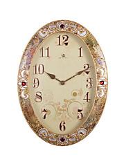 """26.4 """"H Elegantní zlatý okraj Red Ruby Polyresin Nástěnné hodiny"""