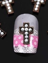 10ks kutilství perla tipy křížení prstů příslušenství nail art dekorace