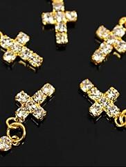 10ks zlatý kutilství drahokamu přechod závěsné prst tipy příslušenství nail art dekorace