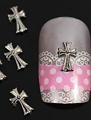 10ks 3d crossing slitina nail art dekorace
