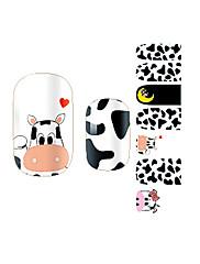 yemannvyou®14pcs cartoon kráva módní nail art samolepky