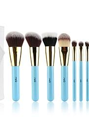 msq®9pcs makeup kartáč modrá rukojeť kosmetika make-up brush set