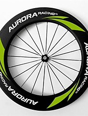 AURORA  700c Road Bike,Bicycle 88mm Depth 25mm Width Full Carbon Tubular Wheels,  R13 Hubs and Sapim  Spokes