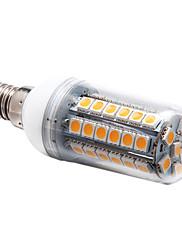 E14 6ワット48x5050smd 450lm 3000  -  3500Kウォーム白色光(220-240V)トウモロコシの電球を導いた